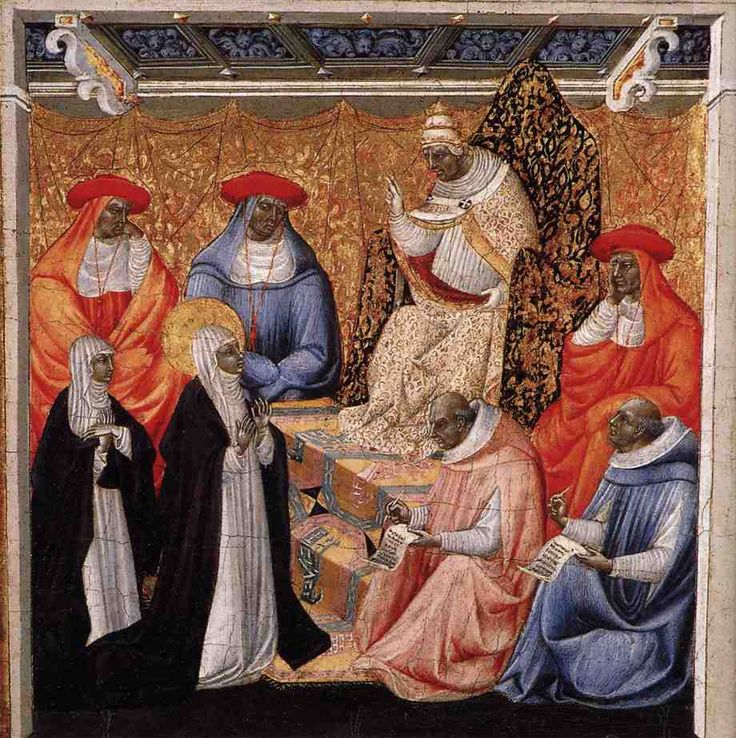 http://tito0107.livejournal.com/279391.html Св. Екатерина Сиенская перд папой в Авиньоне