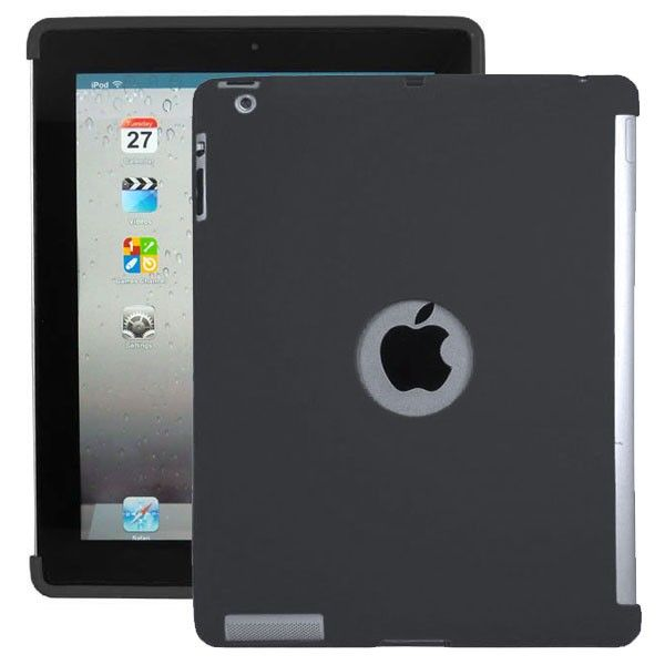 Soft Shell - Smart Cut (Musta) iPad 3 & 4 Silikonisuojus
