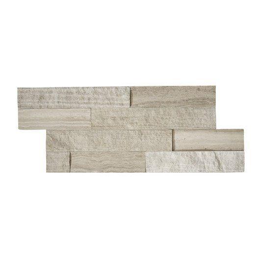 Plaquette de parement pierre naturelle gris / beige Cottage