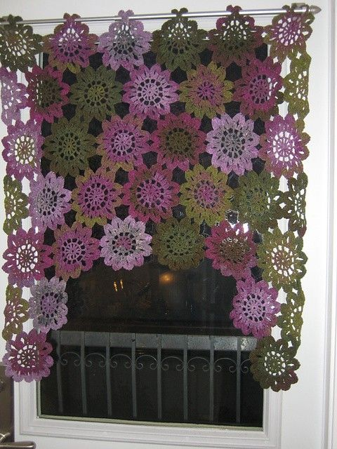 pretty crochet drapes by AlisonB indulgy.com