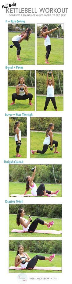 This beginner kettlebell workout is a quick and dirty routine that will work your entire body! | Posted By: NewHowToLoseBellyFat.com