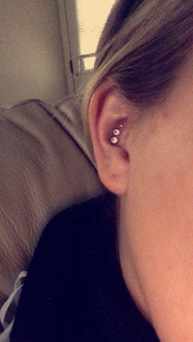 Triple Conch Piercing #piercings #conch #love