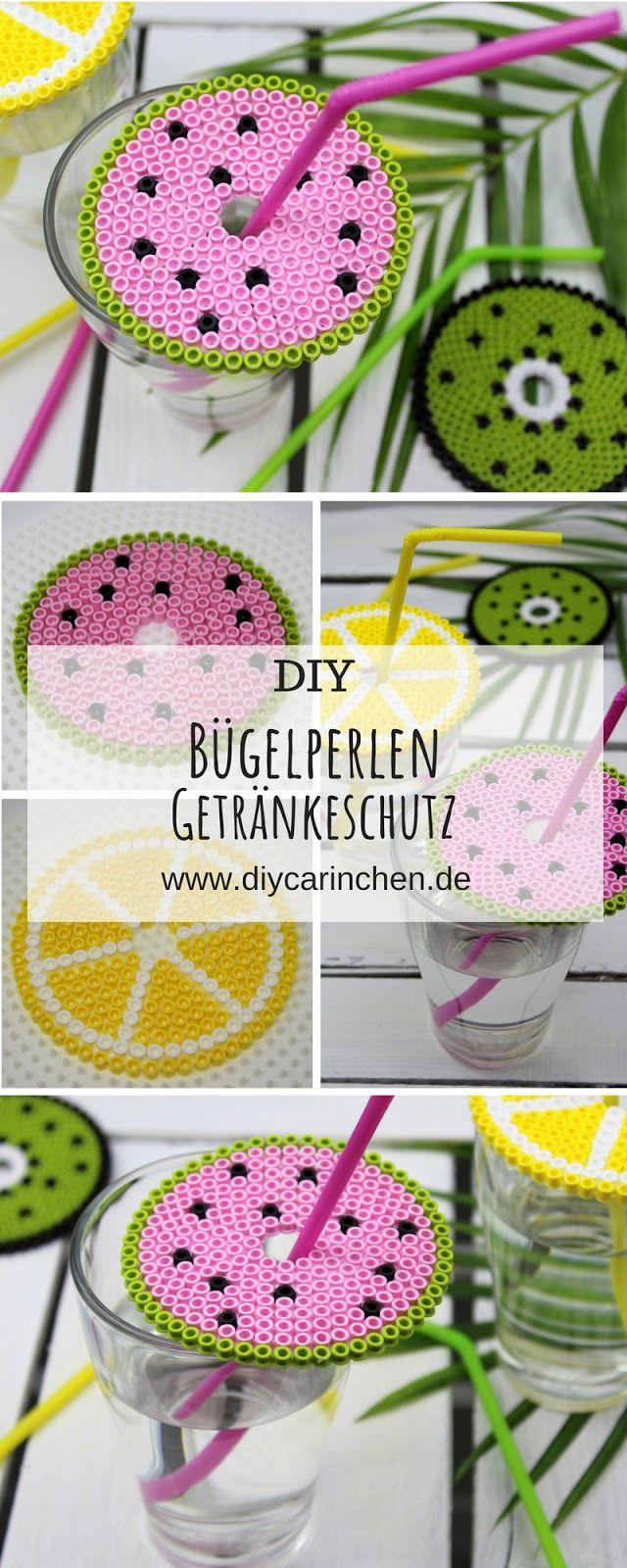 Sommerliches DIY: Getränkeschutzdeckel aus Bügelperlen in 3 sommerlichen Motiven ganz einfach selber machen – super Wespenschutz – DIY