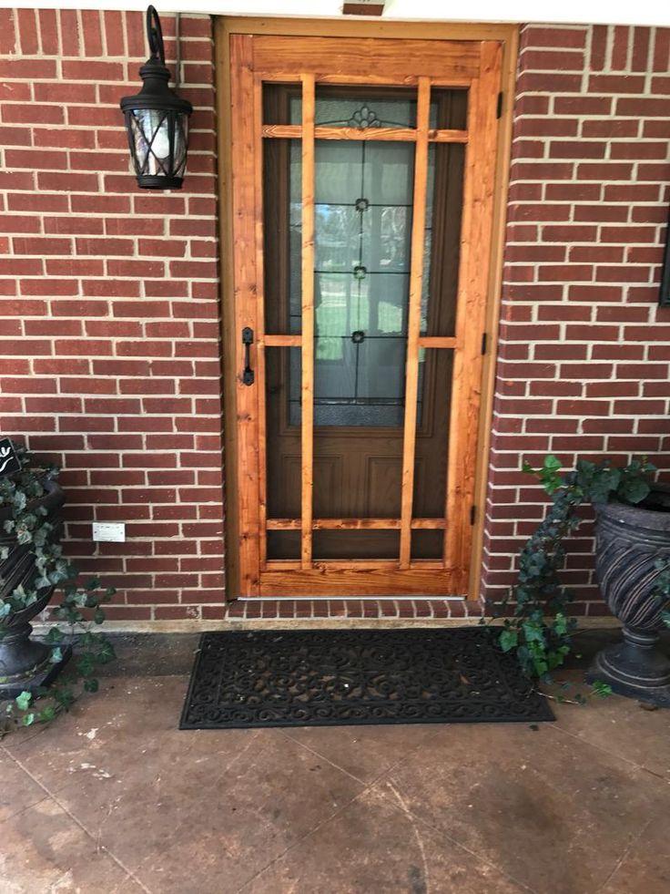 Craftsman style dutch farmhouse screen door storm door