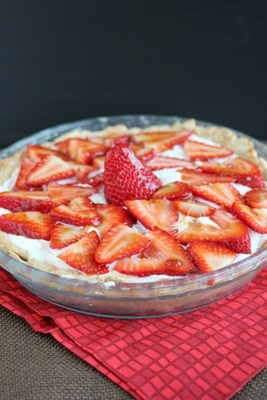Strawberry Meyer Lemon Cream Pie- would be amazing with coconut cream ...
