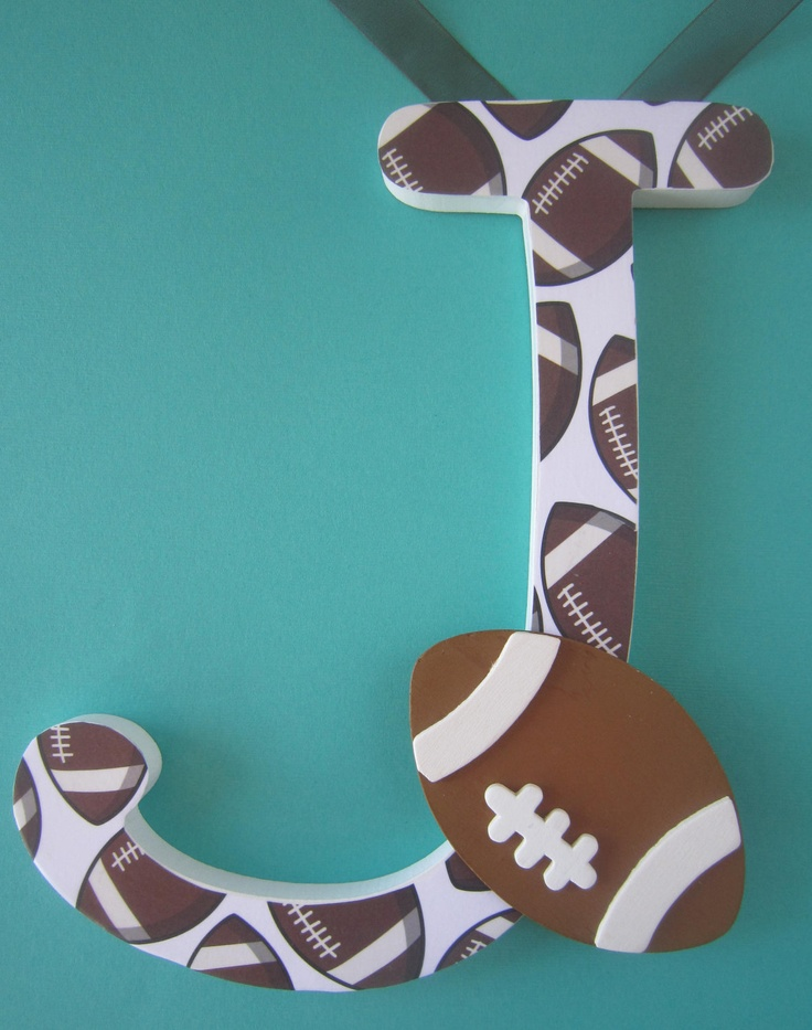 Sports Nursery or Bedroom wall letters...Etsy. This is on Etsy for 11.75 - it's so easy to make and will only cost about $4-$5.