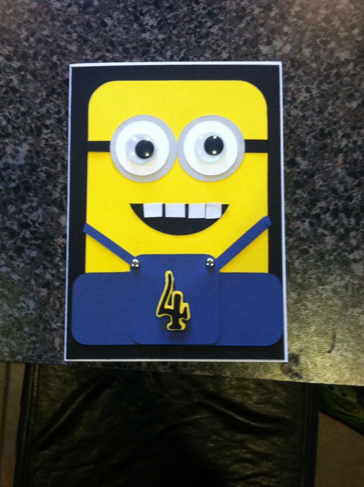 Minion card, using Cricut cartridge-George | My Pinspired ...