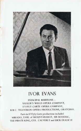Programme Note for (William) Ivor EVANS
