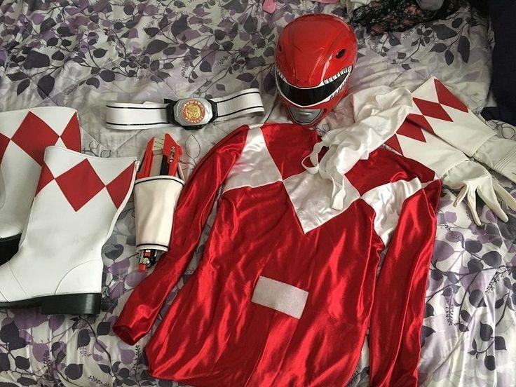 Mighty Morphin Power Rangers Red Ranger Costume Cosplay