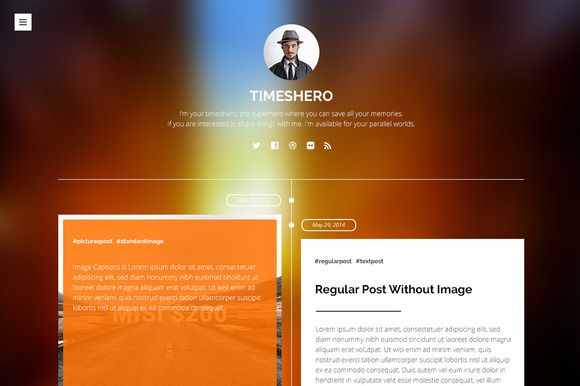 Check out Timeshero - Tumblr Timeline Theme by Simple Shop on Creative Market