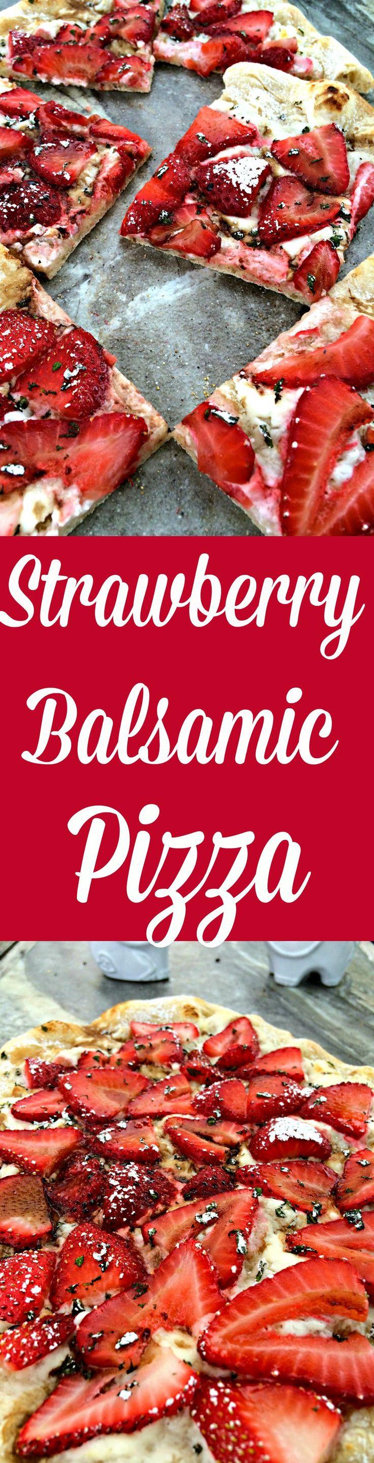 Strawberry Balsamic Pizza ~ The Complete Savorist