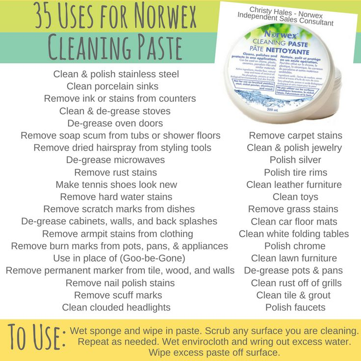 Norwex Cleaning Paste Uses - 35 Norwex Cleaning Paste Uses - How to use