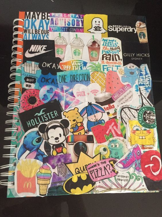 tumblr-inspired-notebook-collage | DIY School Supplies for Teens