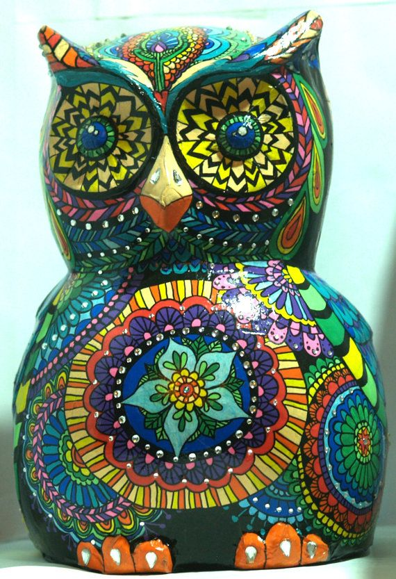 Sugar Skull Owl Sculpture Sugar Skull Owl Sculpture Day Of The Dead Mexican Art Halloween Owl Candy Skull Owl Día De Muertos A Celebration Of Your Birds Life