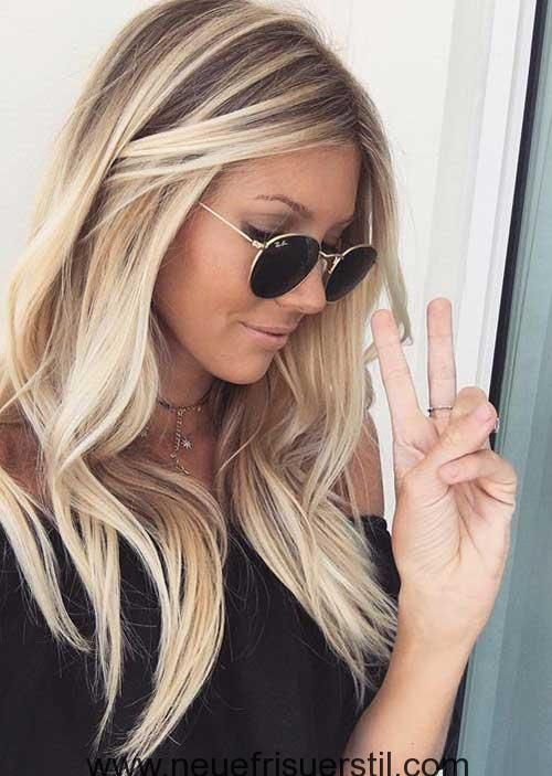 Tolle Blonde Lange Frisur 2018 Frisuren Pinterest Long