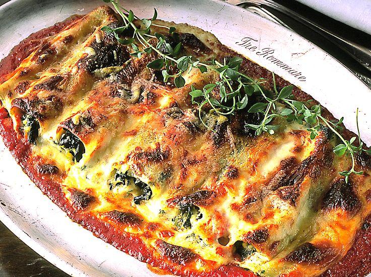 Gratinerad cannelloni med spenat och keso   Recept från Köket.se