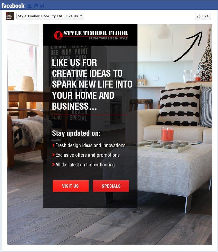Style Timber Floor #Facebook #LandingPage #Design. #SocialMedia