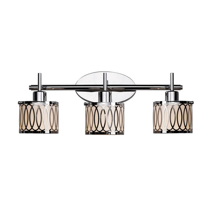 shop bel air lighting 3light polished chrome bathroom vanity light at loweu0027s canada