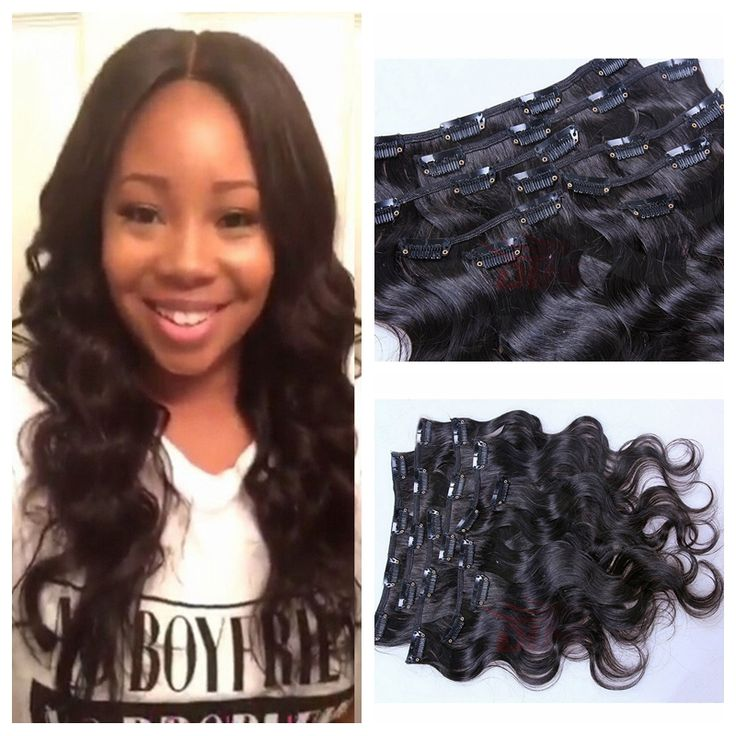 91 best clip in human hair extension images on pinterest hair natural beauty virgin hair clip in extensions full head clip on hair weft 10 26inch pmusecretfo Images