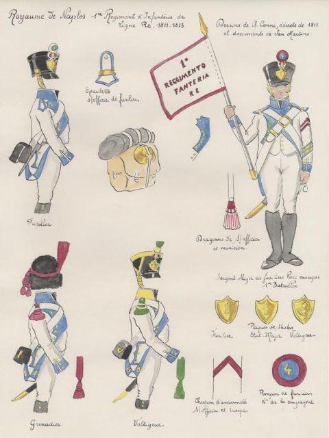 Royaume de Naples 1er Régiment d'infanterie de ligne 1811-1813