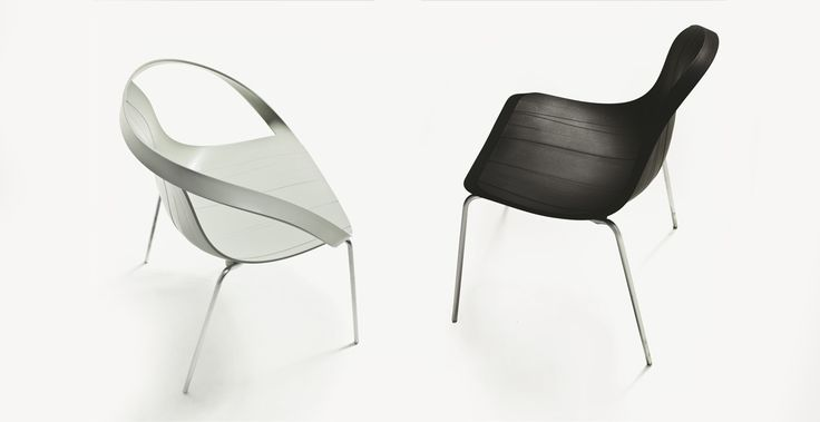 Impossible Wood black&white, design Doshi Levien for Moroso.