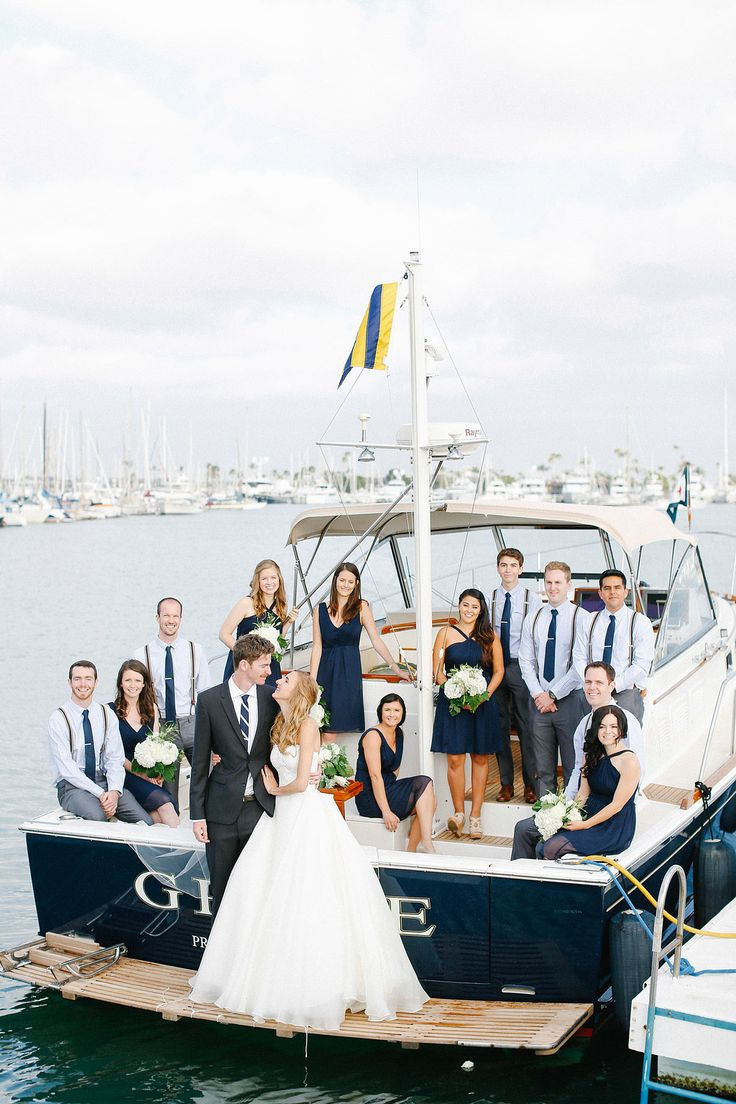 san diego wedding party on boat photography luke katherine griffin for max friends