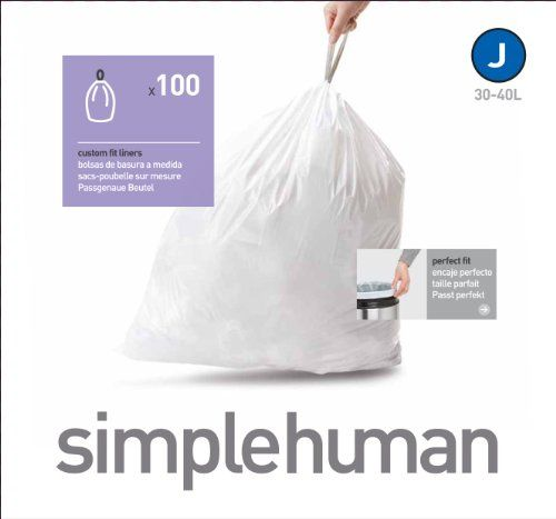 simplehuman 100 count custom fit kitchen trash bag 30 to 40liters8