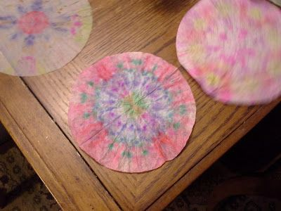 Coffee Filter Firework craft for July 4th