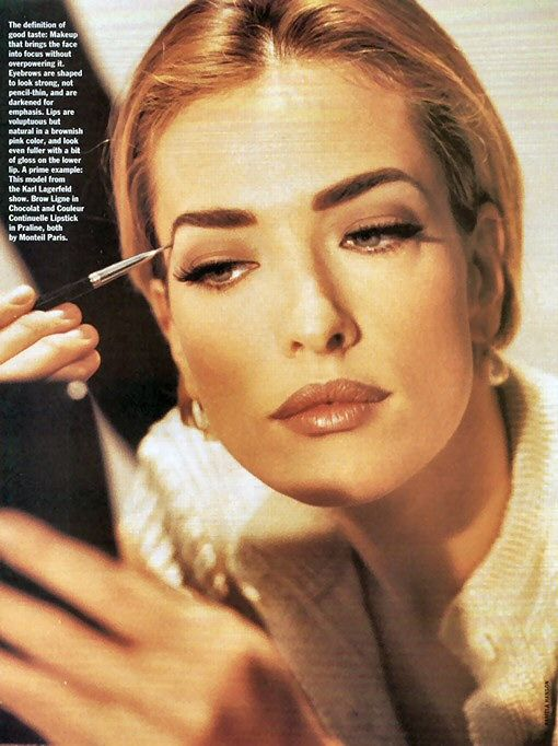 Tatjana Patitz backstage for CHANEL by Karl Lagerfeld 1990's