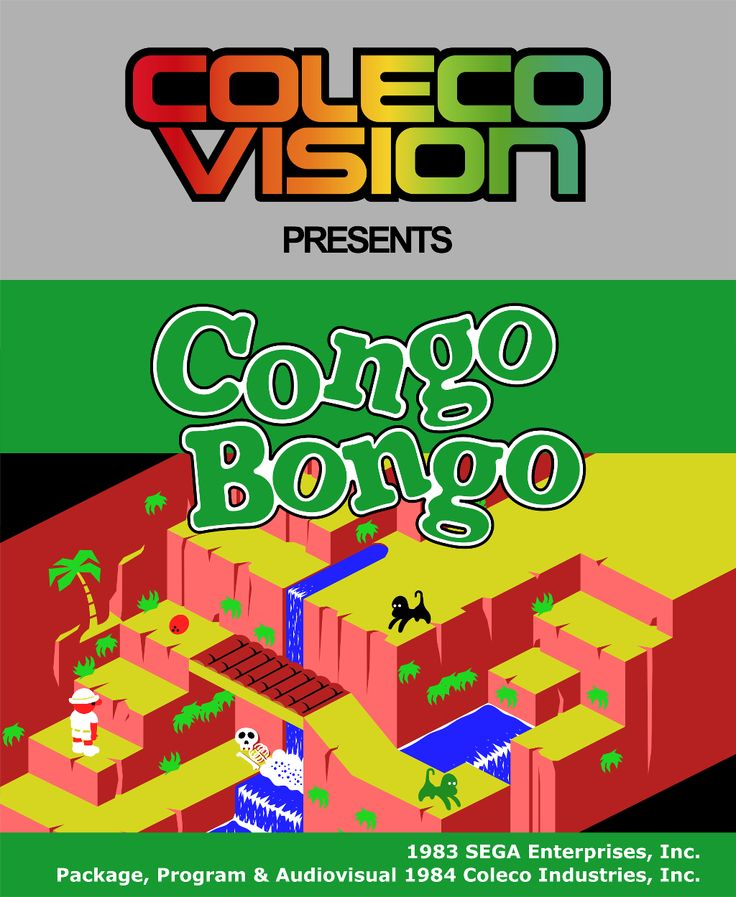 Colecovision - Congo Bongo by afo-art.deviantart.com on @deviantART