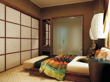 Tropical looking sliding doors for your bedroom closet. It is also perfect for if you have too big a room and you can place these doors in a part of a room to hide a maybe built in clothing area as a bigger closet space.