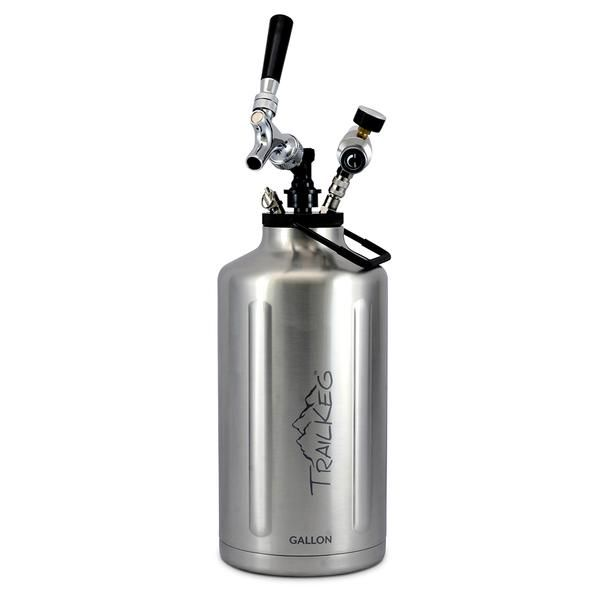 You love craft beer fresh from the tap. Glass growlers start going flat as soon as you open the lid. TrailKeg keeps your beer cold for up to 24 hours and perfec
