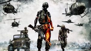 Preview wallpaper battlefield bad company 2, battlefield, soldiers, weapons, equipment 1920x1080