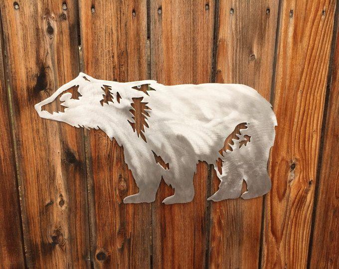 Shop Bear Mountain Metal Art Wall Art