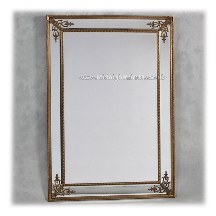 Gold French Style Frame Wall Mirror 192 x 134cm [mm909] - £368.00 : Midnight Mirrors - We Sell Quality Mirrors Nationwide