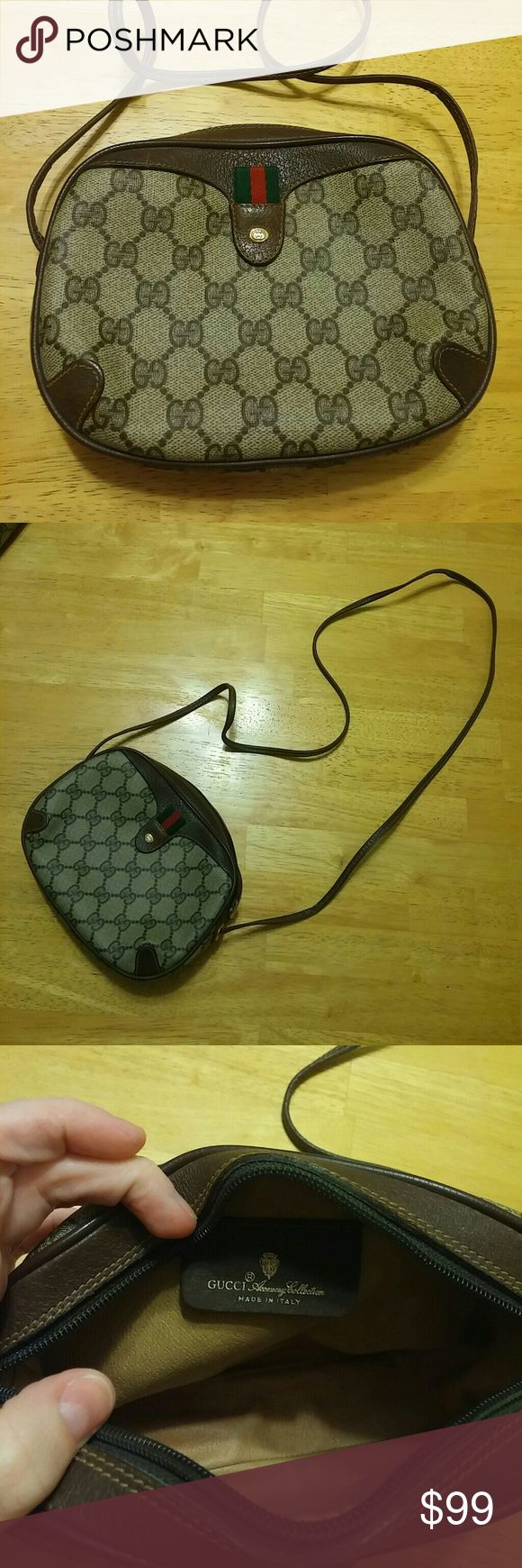 Gucci Purse Excellent condition! Small Gucci purse with long skinny strap. Could be worn multiple ways, crossbody, knotted, etc. More photos availiable if needed. Gucci Bags Mini Bags