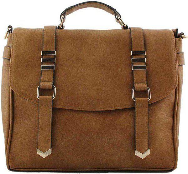 Ladies Satchel Style Handbag With Magnet Fastening