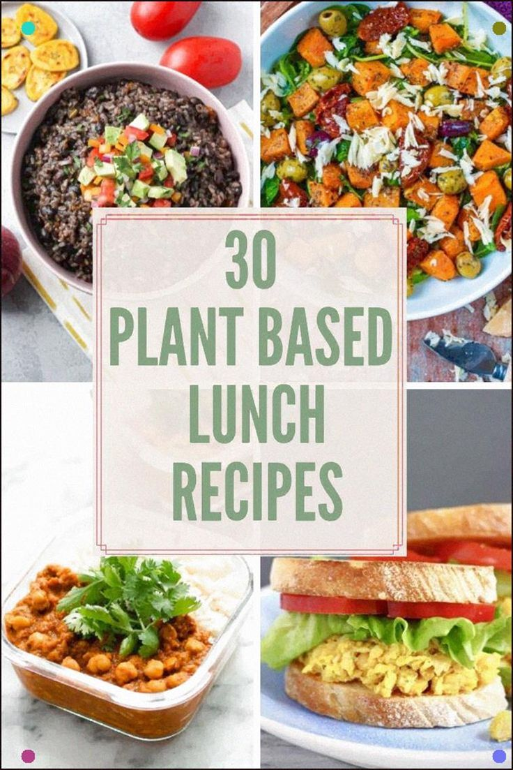 Looking For Plant Based Lunch Ideas? This List Of 30 Vegan And Vegetarian Recipe…