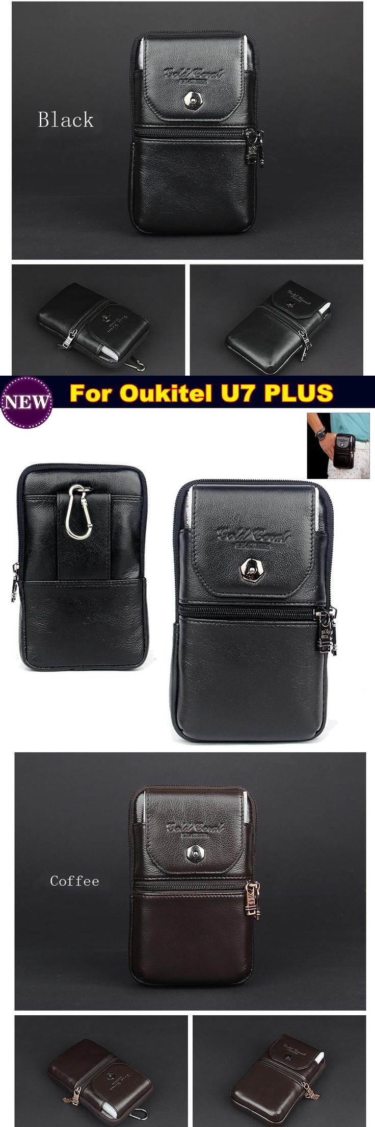 waterproof phone case / Leather Carry Belt Clip Pouch Waist Purse Case Cover for Oukitel U7 PLUS pouch phone case