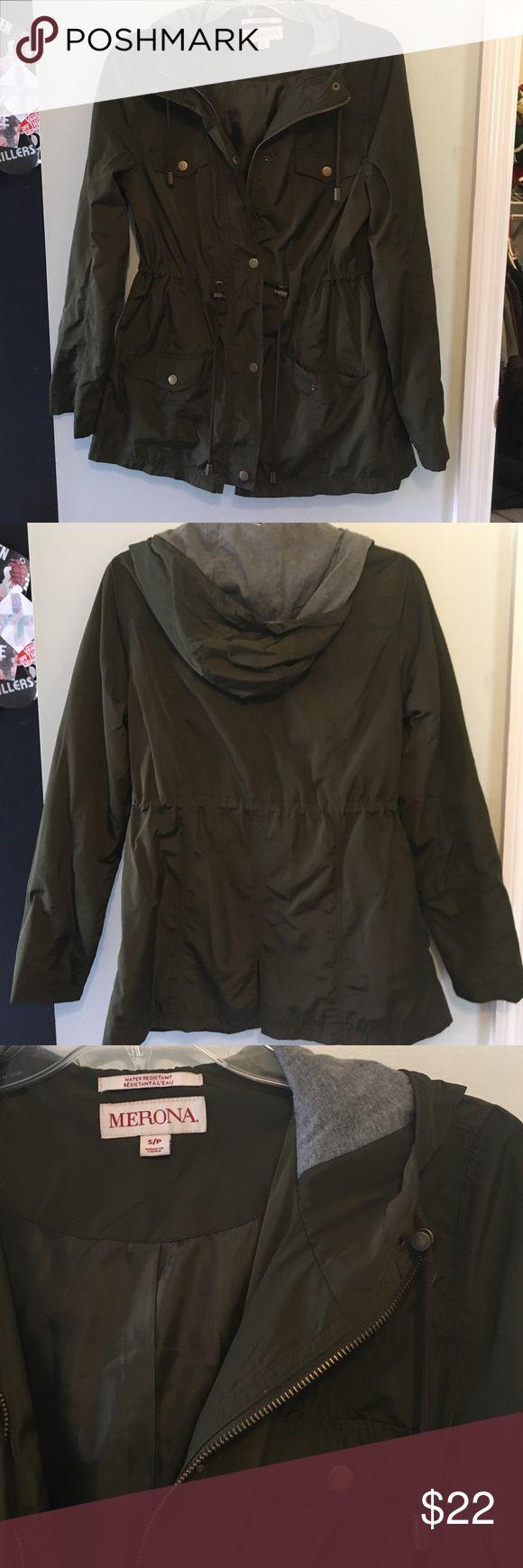 Army green Merona water resistant jacket Water resistant dark green jacket, perfect for rainy days! Barely been worn Merona Jackets & Coats Blazers