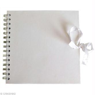 Carnet scrapbook Artemio 30 x 30 cm - Blanc - 40 feuilles