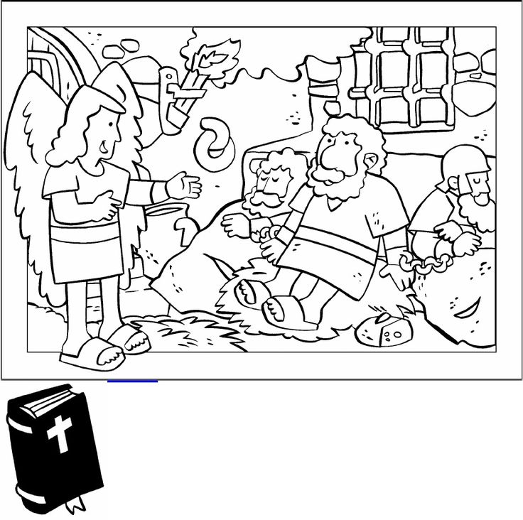 Peter Escapes From Prison Coloring Page Sketch Coloring Page