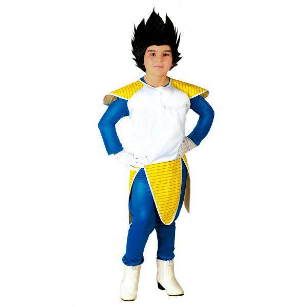 Disfraz niño Vegeta. Dragon Ball Disfrázate de Vegeta, Príncipe de los Saiyajin como un guerrero que destaca por su astucia y valentía a la hora de luchar. Personaje de la serie Dragon Ball,  inicialmente enemigo de Son Goku en la serie.