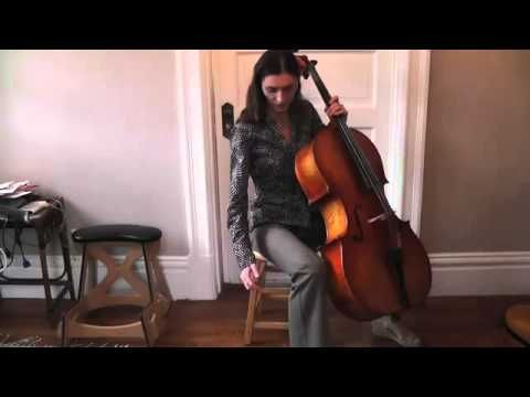 Olga Redkina: Online Cello Lessons - 2 - How to Hold and Sit With the Cello.