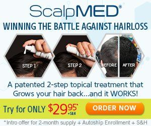 Give Scalp Med a try watch how your hair grows back can even grow in more thicker!  #scalpmed