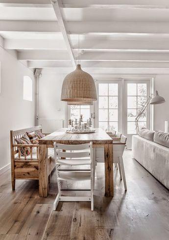 Blanco madera natural y estampados tnicos muebles for Muebles estilo etnico