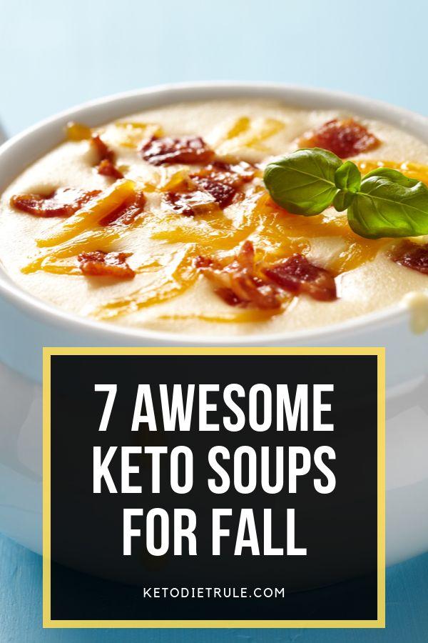 7 increíbles recetas de sopa de ceto que te mantendrán caliente este otoño. #ketosoups #lowcar …