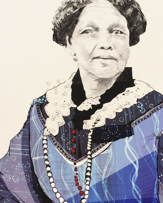 Mary Seacole -a close up . #limitededition #limitededitionprint #limitededitionprintsforsale #vote100 #womeninhistory #primarycurriculum #nhslove #cq #creativequarter #creativequarternottingham #maryseacole #motherseacole