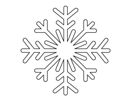 Printable Full Page Snowflake Pattern Use The Pattern For