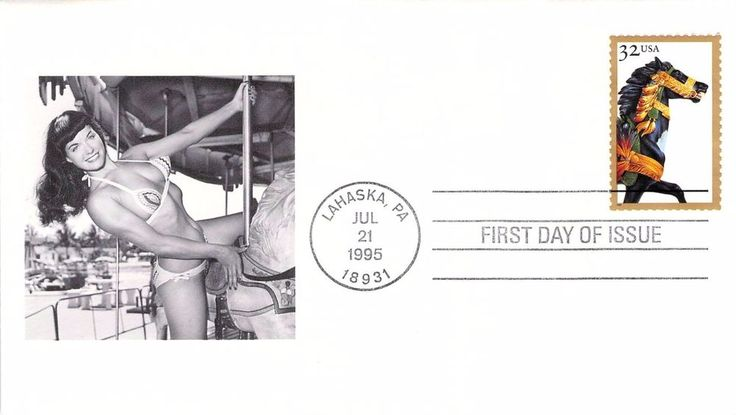 1995 Carousel First Day Cover - Bettie Page Add-on
